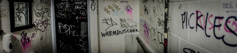 Meanwhile in the loos, WARMDUSCHER makes it's presence known.